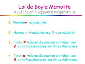 Loi de Boyle Mariotte Application lappareil respiratoire 1