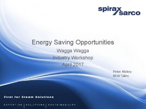 Energy Saving Opportunities Wagga Industry Workshop April 2017
