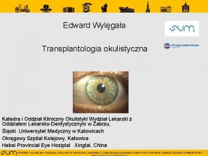 Edward Wylgaa Transplantologia okulistyczna Katedra i Oddzia Kliniczny