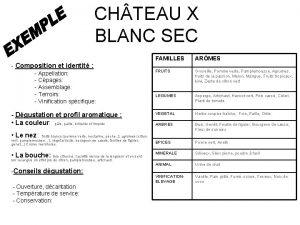 CH TEAU X BLANC SEC FAMILLES ARMES FRUITS