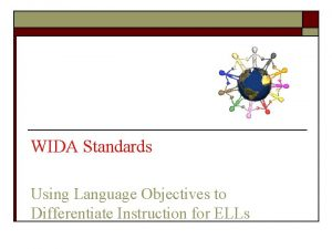 WIDA Standards Using Language Objectives to Differentiate Instruction