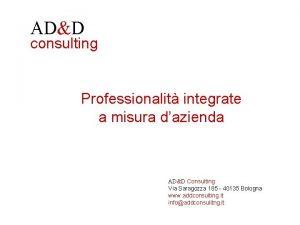 ADD consulting Professionalit integrate a misura dazienda ADD