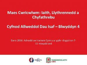 Maes Cwricwlwm Iaith Llythrennedd a Chyfathrebu Cyfnod Allweddol