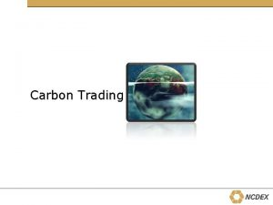 Carbon Trading Carbon Story Environmental externalities of industrial