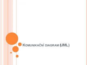 KOMUNIKAN DIAGRAM UML KOMUNIKAN DIAGRAM Komunikan diagram je