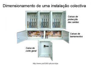 Dimensionamento de uma instalao colectiva Caixas de proteco