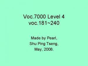 Voc 7000 Level 4 voc 181240 Made by