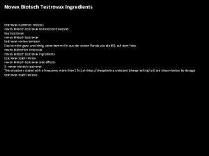 Novex Biotech Testrovax Ingredients testrovax customer reviews novex