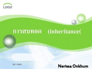 LOGO inheritance 26112563 Nerissa Onkhum LOGO 26112563 LOGO