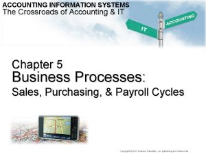 ACCOUNTING INFORMATION SYSTEMS The Crossroads of Accounting IT