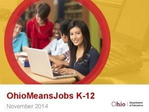 Ohio Means Jobs K12 November 2014 Ohio Means