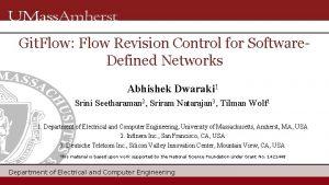 Git Flow Flow Revision Control for Software Defined