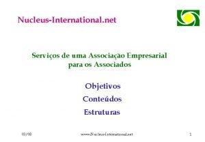 NucleusInternational net Servios de uma Associao Empresarial para