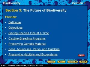 Biodiversity Section 3 The Future of Biodiversity Preview