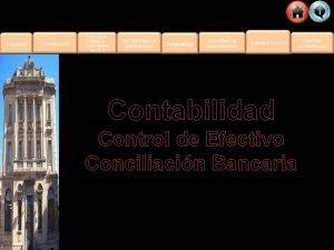 Contabilidad Control de Efectivo Conciliacin Bancaria Qu vas