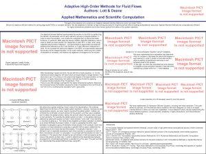 Adaptive HighOrder Methods for Fluid Flows Authors Lott