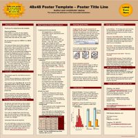 48 x 48 Poster Template Poster Title Line