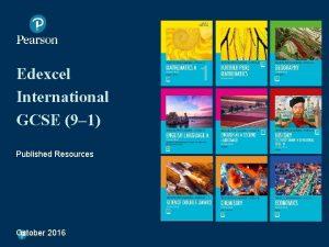 Edexcel International GCSE 9 1 Published Resources October