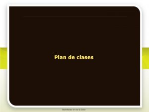 Plan de clases Matemticas II Plan de clases
