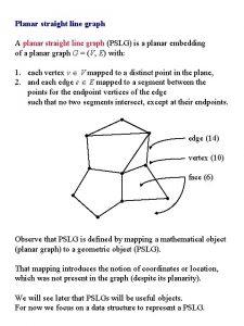 Planar straight line graph A planar straight line