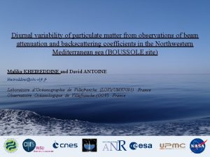 Diurnal variability of particulate matter from observations of