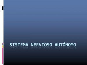 Sistema Nervioso Divisin Funcional Sistema Nervioso Somtico Sistema