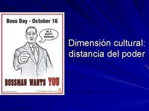 Dimensin cultural distancia del poder Un dilogo transcultural