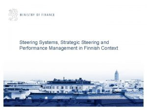 Steering Systems Strategic Steering and Performance Management in