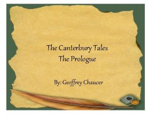 The Canterbury Tales The Prologue By Geoffrey Chaucer