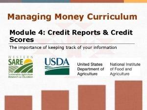 Managing Money Curriculum Module 4 Credit Reports Credit