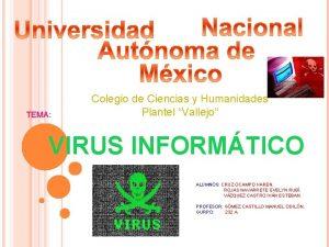 TEMA Colegio de Ciencias y Humanidades Plantel Vallejo