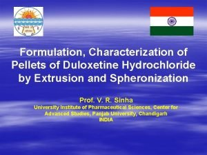 Formulation Characterization of Pellets of Duloxetine Hydrochloride by