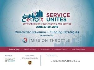 Diversified Revenue Funding Strategies presented by Diversified Revenue