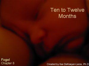 Ten to Twelve Months Fogel Chapter 8 Created