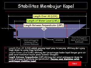 Stabilitas Membujur Kapal Length Over All LOA Length