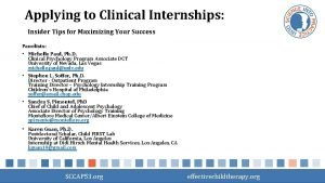 Applying to Clinical Internships Insider Tips for Maximizing