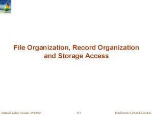 File Organization Record Organization and Storage Access Database