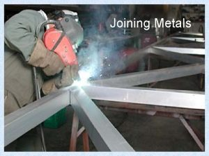 Joining Metals Non Permanent Joining A Bolt is