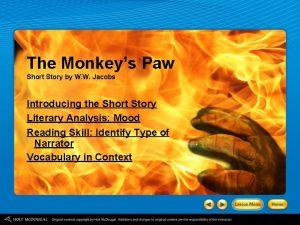 The Monkeys Paw Short Story by W W