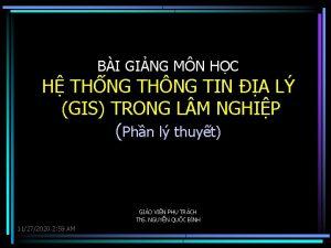 BI GING MN HC H THNG THNG TIN