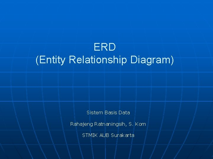 ERD Entity Relationship Diagram Sistem Basis Data Rahajeng