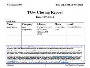 November 2005 doc IEEE 802 11 051226 r