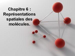 Chapitre 6 Reprsentations spatiales des molcules Activit prparatoire