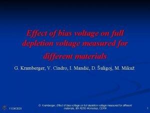 Effect of bias voltage on full depletion voltage
