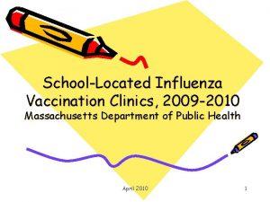 SchoolLocated Influenza Vaccination Clinics 2009 2010 Massachusetts Department