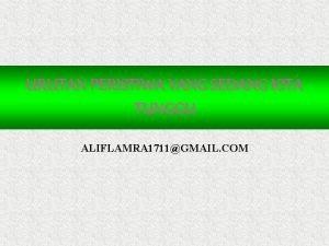 URUTAN PERISTIWA YANG SEDANG KITA TUNGGU ALIFLAMRA 1711GMAIL