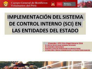 IMPLEMENTACIN DEL SISTEMA DE CONTROL INTERNO SCI EN