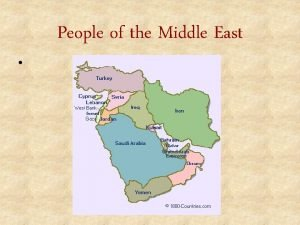 People of the Middle East Background The Middle