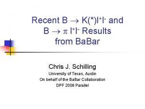 Recent B Kll and B p ll Results