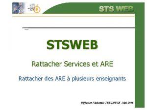 STSWEB Rattacher Services et ARE Rattacher des ARE